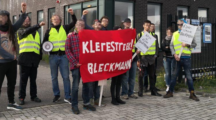 Klerestreek Bleckmann! actie tegen onzinontslagen en flex bij Amsterdams modedistributiecentrum Bleckmann