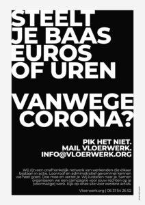 Vloerwerk nederlands corona poster