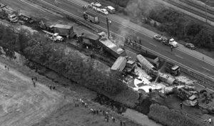 verkeersongeluk kettingsbotsing 1972