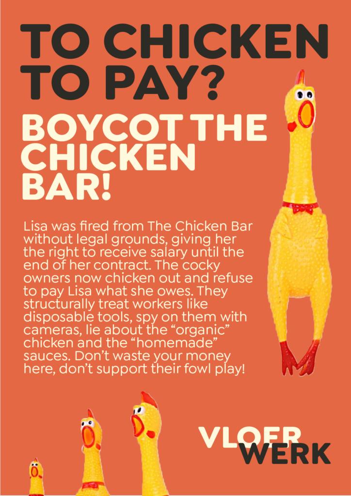 Boycot the chicken bar